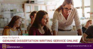 Genuine Dissertation Writing Service Online